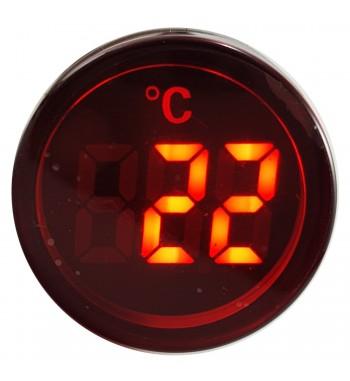 Termometro Digital para Panel -20 a 199ºC 220V - Rojo