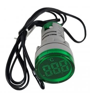 Termometro Digital para Panel -20 a 199ºC 220V - Verde