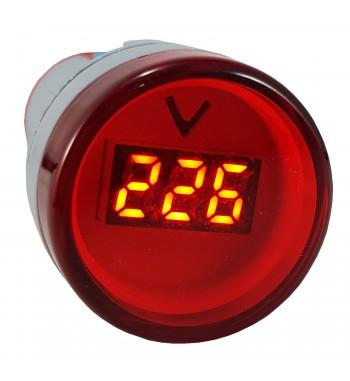 Medidor De Voltaje Voltimetro Redondo 22mm De Panel...