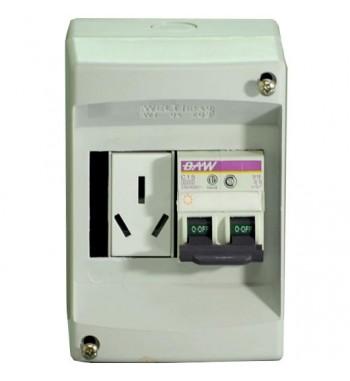Kit Caja PVC con termica de 15A y toma de 20A