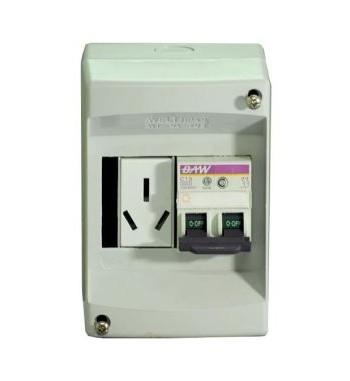 Kit Caja PVC con termica de 20A y toma de 20A