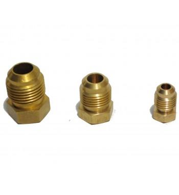 Tapon Macho de 1/2 Flare para manguera y Cañerias de cobre