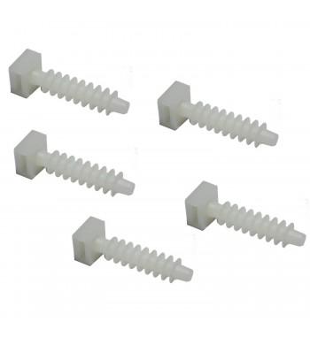 Tarugo Para Precintos Diametro 8mm Blanco 5 Unidades