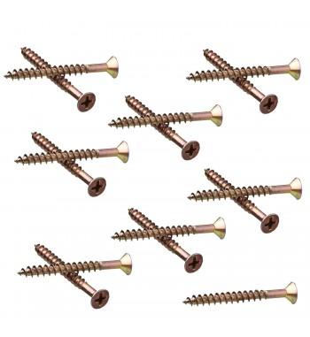 Tornillo Fix Nº 6 (3 x 40) Bicromatizado Dorado 15 Unidades