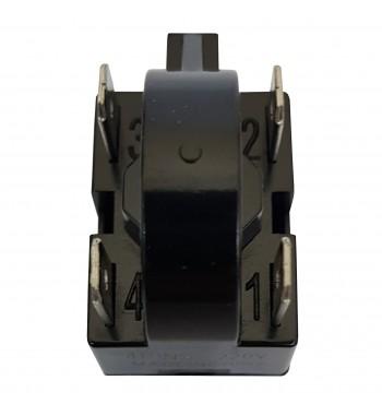 Relay PTC 4 Pins 220V Para Arranque De Compresores Negro