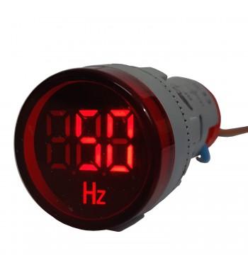 Medidor De Frecuencia AC Redondo 22mm De Panel Gralf GF-22F
