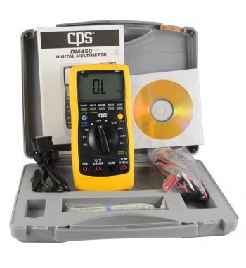 Tester Multimetro Digital Con Interfaz RS-232 CPS DM450