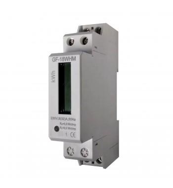 Medidor Monofasico De Consumo En kWh 300V 30A Riel Din...