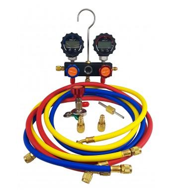 Manifold Digital r134A R12 R22 y R410A ELITECH Mod. DMG-1B