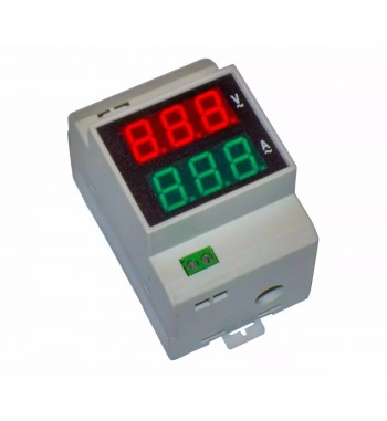 Medidor AC Voltimetro 300V Amperimetro 99,9A Riel Din...