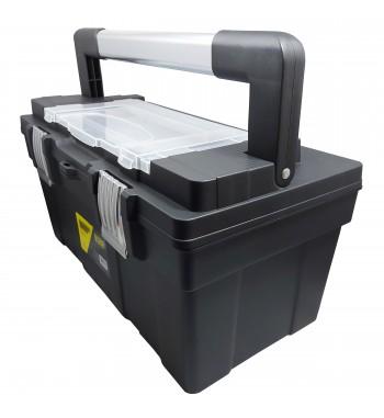"""Caja de herramientas de 21"""" plástica con cierre de..."""