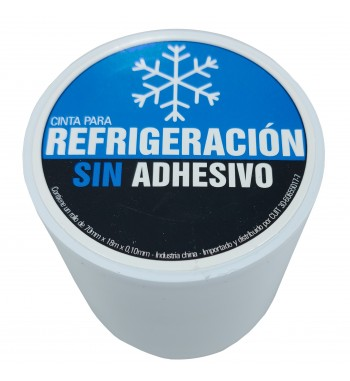 Cinta PVC Sin Adhesivo Blanca 70mm X 20mtrs SM