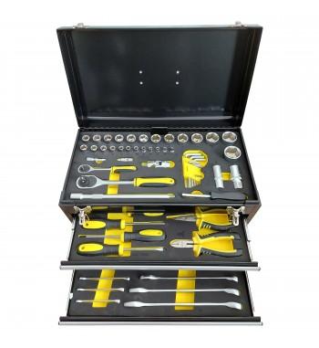 Caja de herramientas metálica de 90 piezas - Barovo JU901412