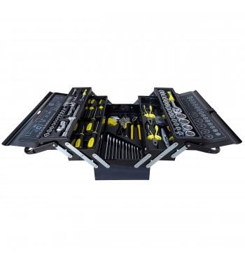Caja de herramientas metálica tipo fuelle de 85 piezas -...