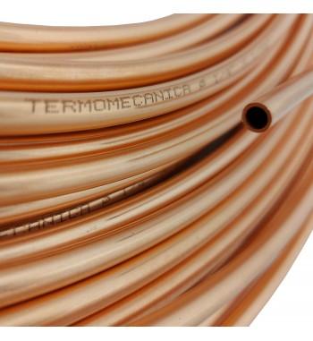 Caño de cobre fraccionado por metro 1/4 0,8mm