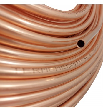 Caño de cobre fraccionado por metro 3/8 0,8mm