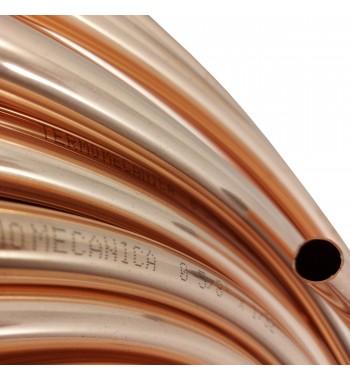 Caño de cobre fraccionado por metro 5/8 0,8mm