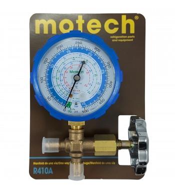 Manifold Motech R410a Simple De Baja Bronce