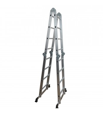 Escalera multipropósito 4×4 con plataforma de acero...